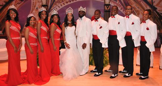 The 2013-2014 Royal Court posing at their elegant .Coronation