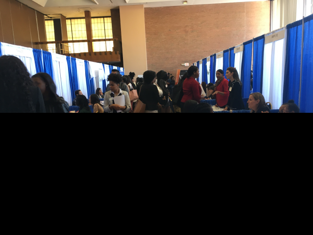 Participants at Haward job fair