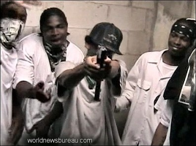Young males with gun